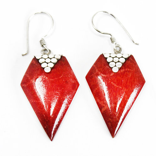 Coral Style Silver Earrings - Grapes