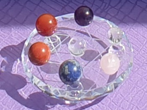 Chakra Stones with Charging Plate