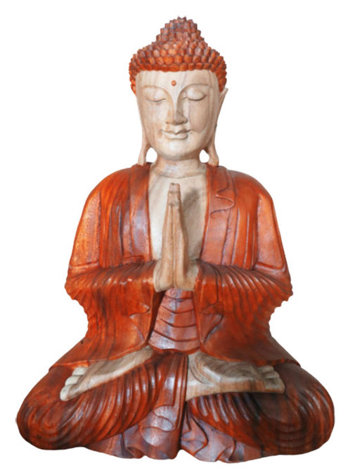 Hand Carved Buddha Statue - 30cm Welcome
