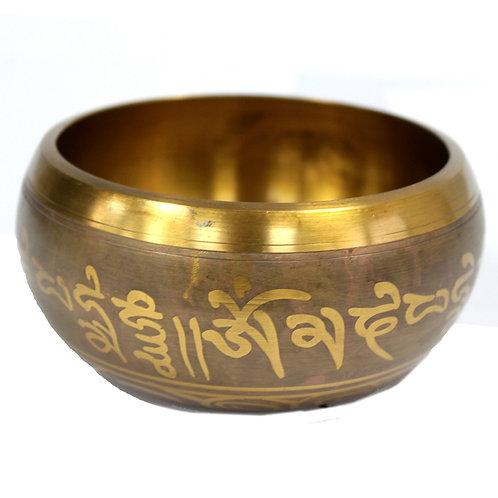 Lrg Five Buddha Singing Bowl