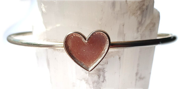Heart Bangle - Memorial Jewellery