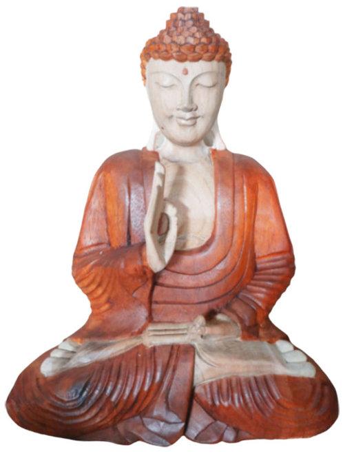 Hand Carved Buddha Statue - 40cm Teaching Transmission