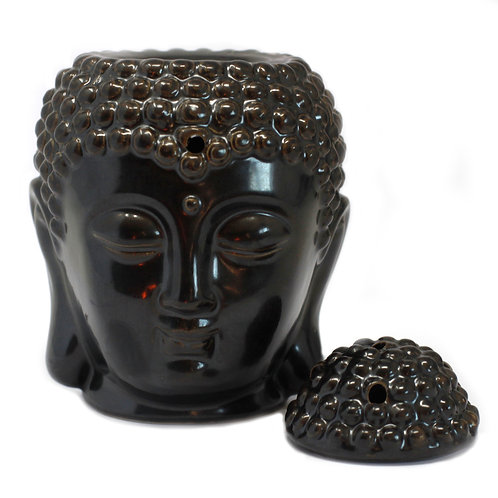 Buddha Head Oil Burner - Dark Brown