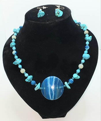 Turquoise, Banded Agate and Amazonite