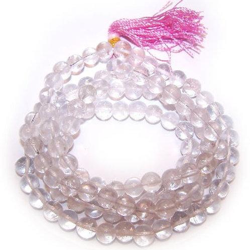 108 Bead Mala - Clear Quartz