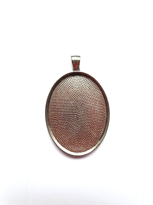 Antique Oval Metal Pendant for ashes