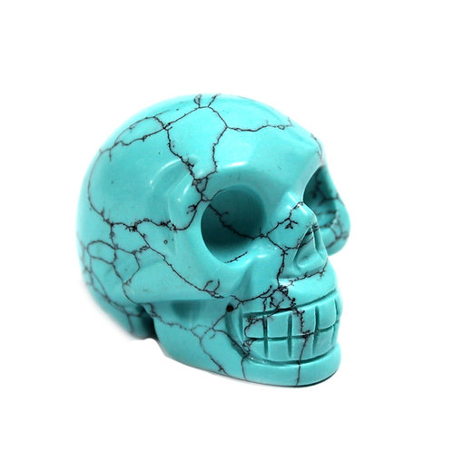 Gemstone Skull - Turquoise
