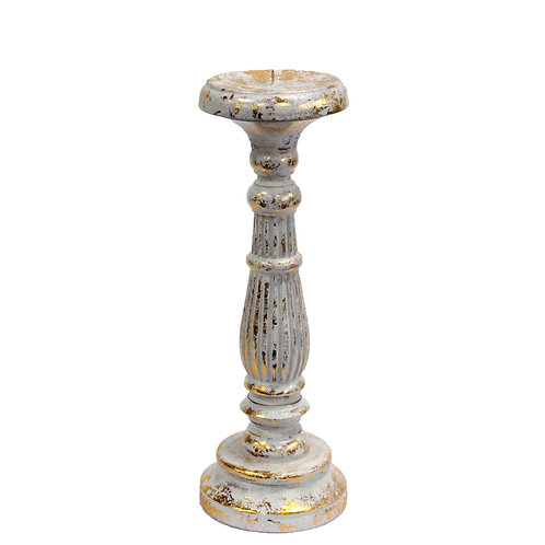 Medium Candle Stand - White Gold