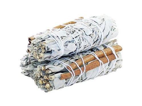 Smudge Stick - White Sage & Cinnamon 10cm
