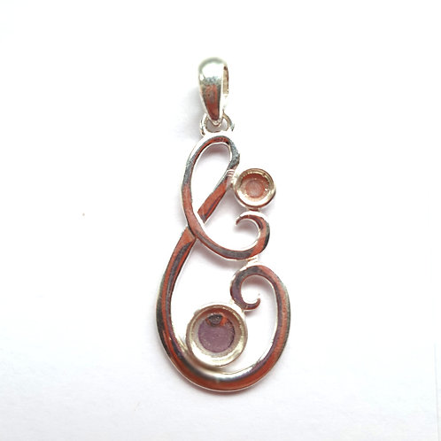 Silver Swirl Pendant for ashes