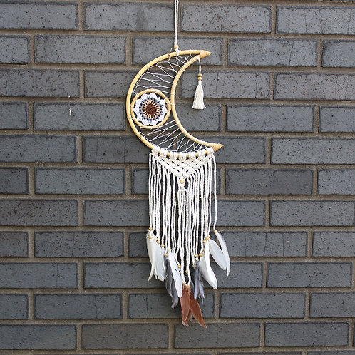 Protection Dream Catcher - Macrame Moon