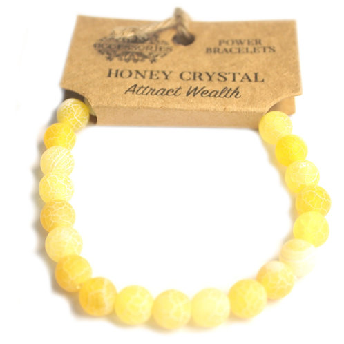 Power Bracelet - Honey Crystal