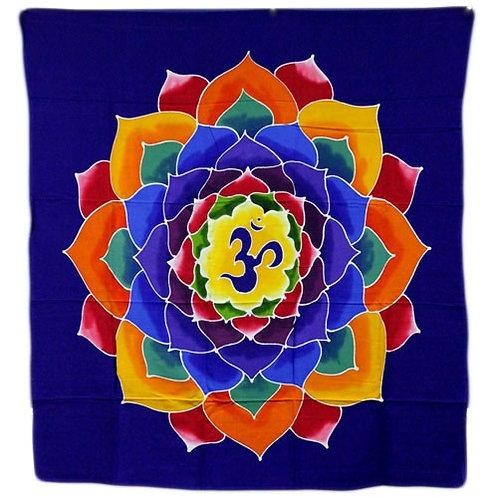 Om - Flower of Life 110x98cm Tapestry