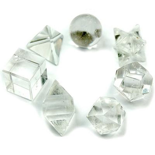 Geometric Seven Piece Crystal Set