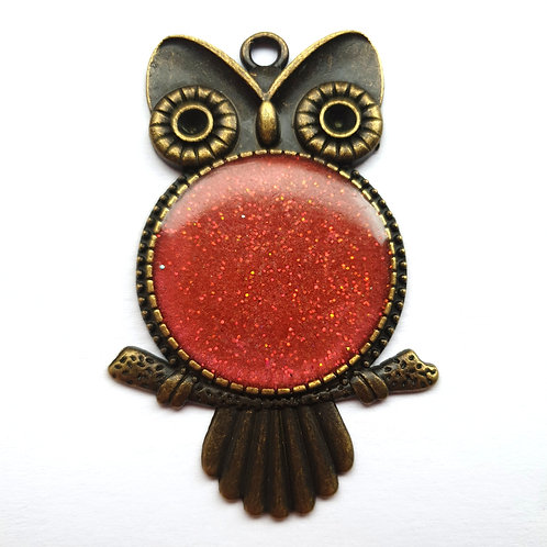Bronze owl for ashes