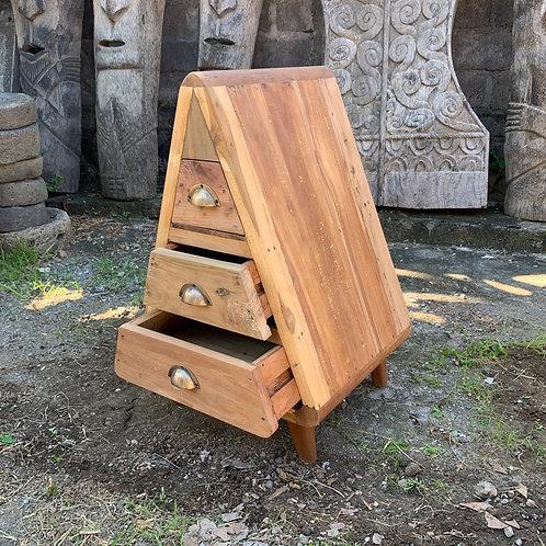 Mr Triangle Decoration Storage 3 Draws - Recycled Wood