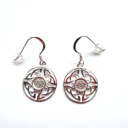 Silver Celtic earrings for ashes