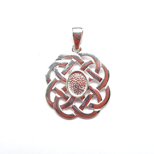 Silver Knot Pendant for ashes