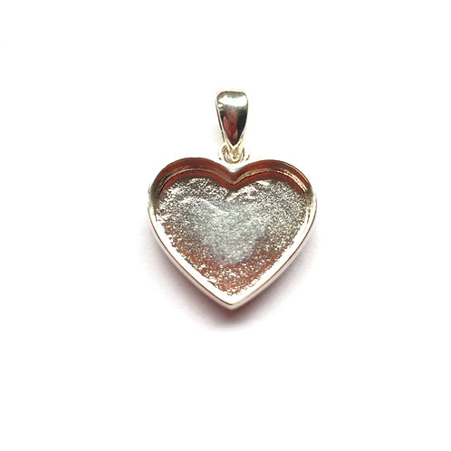 Silver Heart Pendant for ashes