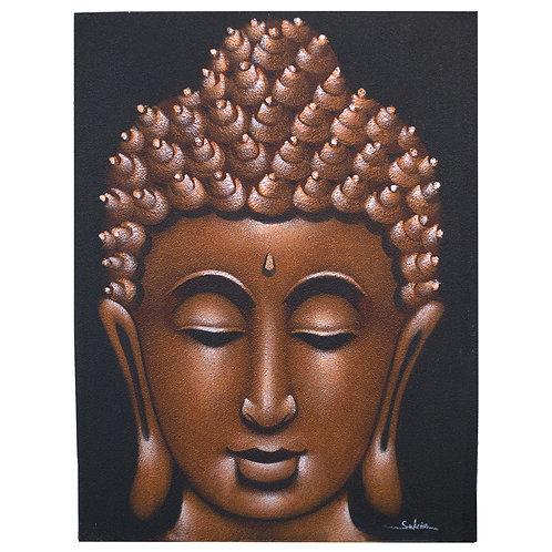 Buddha Painting - Copper Sand Finish
