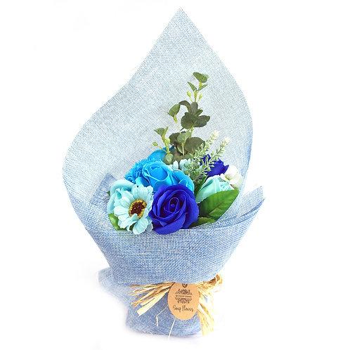 Blue Standing Soap Flower Bouquet