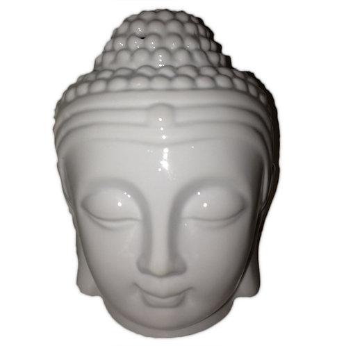Buddha Head Oil Burner - White