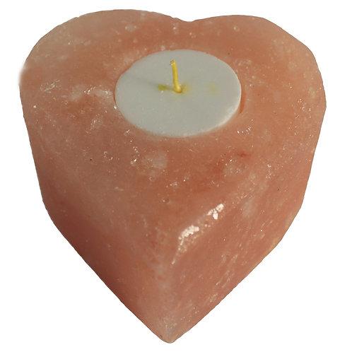 Salt Candle Holder - Medium Heart