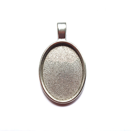 Small oval pendant for ashes
