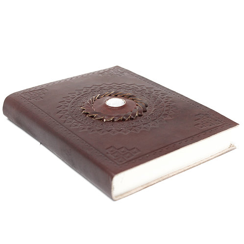 """Leather Moonstone Notebook (7x5"""")"""