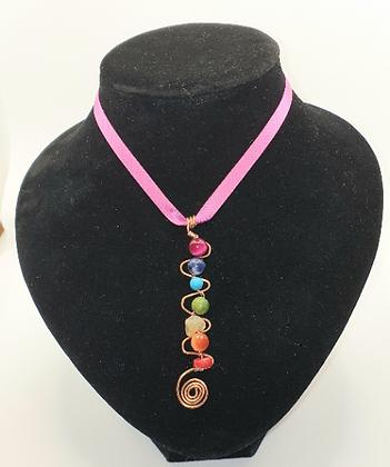 Chakra Spiral Vertical Pendant