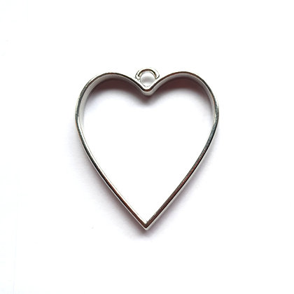 Silver Metal Heart - Memorial Jewellery