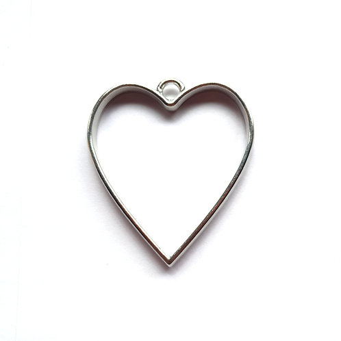 Open metal heart for ashes