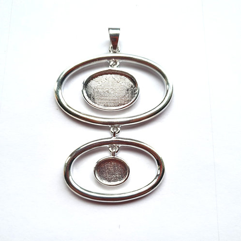 Silver modern pendant for ashes