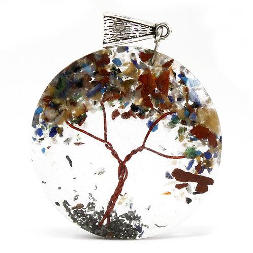 Orgonite Power Pendant - Round Amethyst Tree (mix)