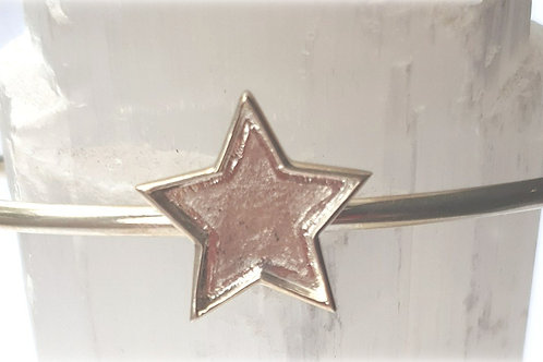 Stirling Silver Star Bangle for ashes