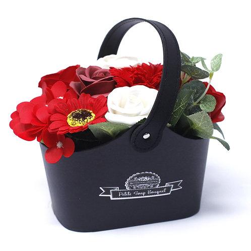 Rich Reds Bouquet Soap Basket