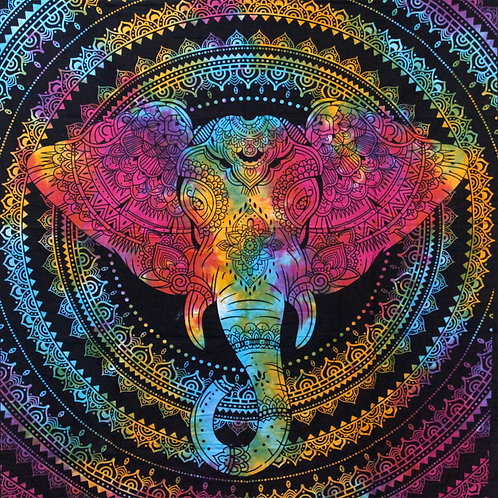 Double Cotton Bedspread/Wall Hanging - Elephant Head