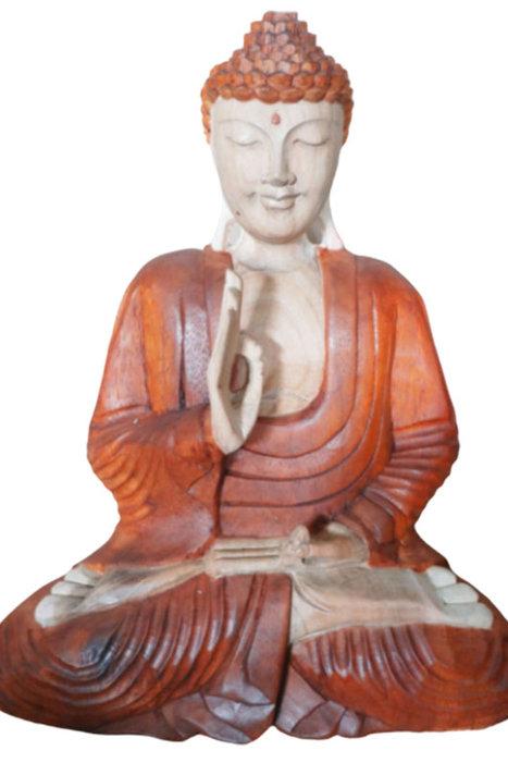 Hand Carved Buddha Statue - 60cm Teaching Transmission