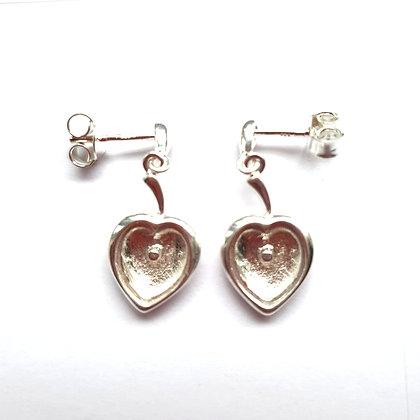 Heart Earrings - Memorial Jewellery