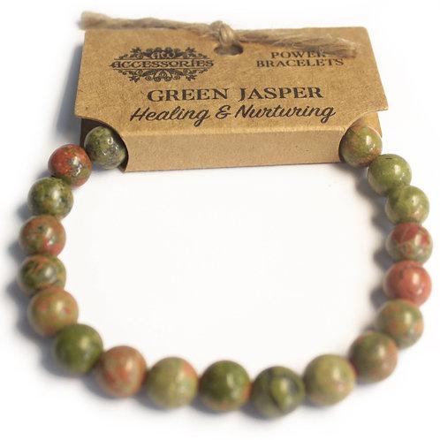 Power Bracelet - Green Jasper