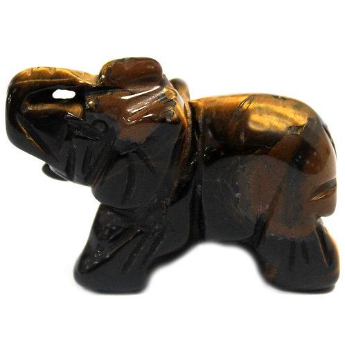 Gemstone Elephant - Tigers Eye