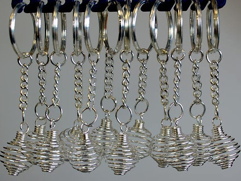 Spiral Cage Key-rings (Pack of 12)