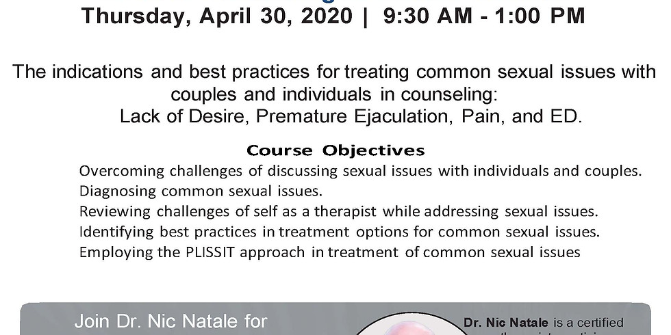 Webinar - Treating Common Sexual Issues - On Demand