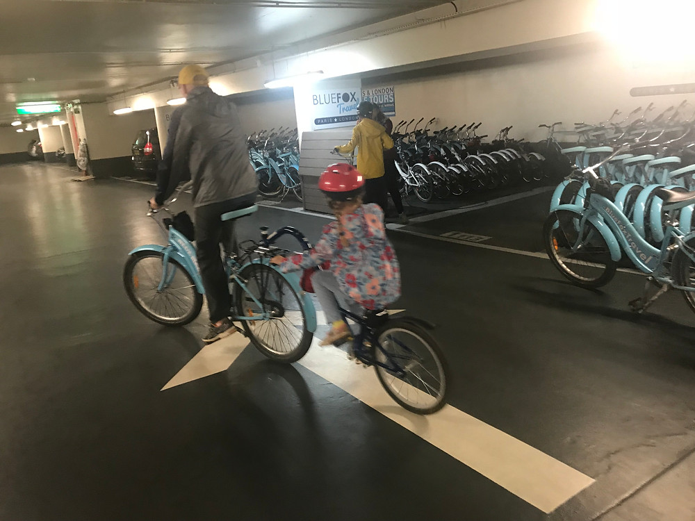 Picking up our Bikes