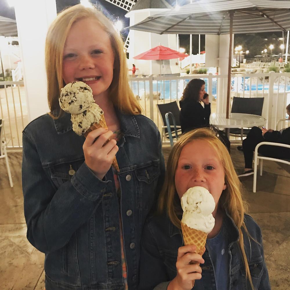 Double Scoop Ice Cream Snack
