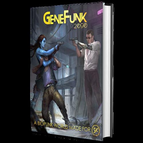 GeneFunk 2090 Core Rulebook - Hardcover Gold Foil + PDF