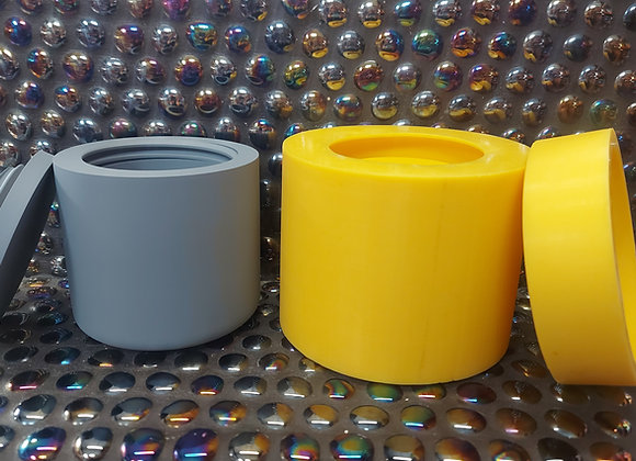 XL threaded pot and lid silicone mould
