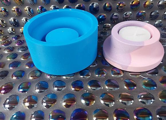 Short tealight holder , concrete mould, jesmonite mould and plaster mould