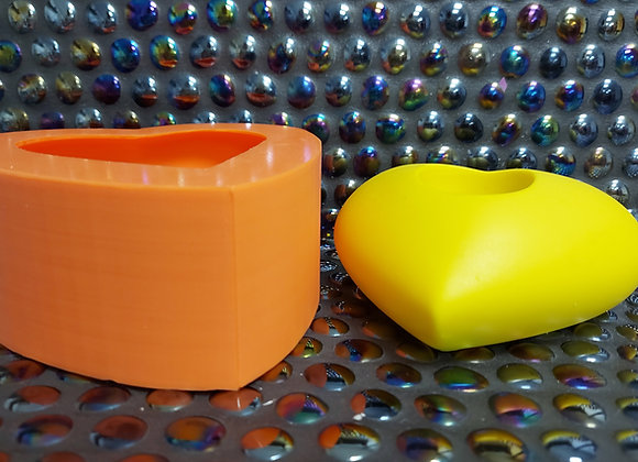Large heart silicone mould tealight holer