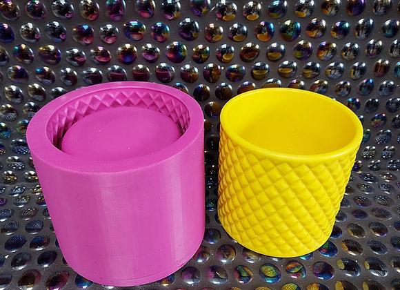 Diamond plant pot/candle vessel silicone mould